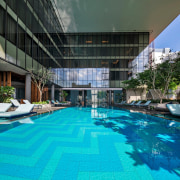 44655 Preview Low 2506 4 44655 Sc V2Com architecture, condominium, estate, hotel, leisure, leisure centre, property, real estate, reflection, resort, resort town, swimming pool, thermae, water, teal