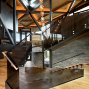 Sharing connections - architecture | beam | daylighting architecture, beam, daylighting, interior design, stairs, wood, black