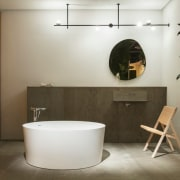 The Serene area of Das Haus at imm architecture, bathroom, bidet, building, ceramic, floor, flooring, house, interior design, material property, plumbing fixture, property, room, tile, brown