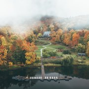 The owners opted for a sustainable approach to atmosphere, atmospheric phenomenon, autumn, bank, cloud, lake, lake district, landscape, leaf, mist, morning, mountain, natural landscape, nature, plant, reflection, river, sky, state park, tree, water, water resources, waterway, wilderness, white, black