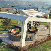 This pool house is sense-ational - shade | shade, vehicle, gray