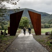 Sculpture frames countryside – the end of a black