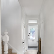 Existing entrance hall. - Past embraces present -