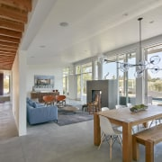 In this open-plan home, the view from the