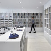 This upstairs room – part music library, part