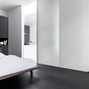 The minimalist home – bedrooms included – is