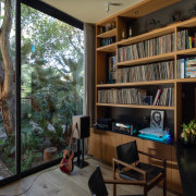 The home office offers direct access to the