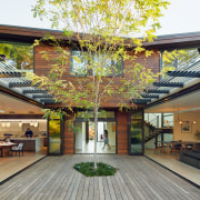 Organised around a courtyard, this residence provides a