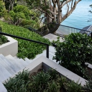 Steps to the beach were built around an