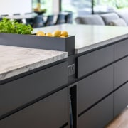 Herb planters and fruits can be placed into