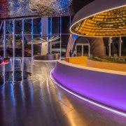 Reuse of real estate sales buildings - architecture architecture, building, city, design, interior design, light, lighting, lobby, mixed-use, night, purple, sky, purple
