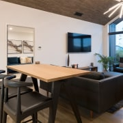 His dining area - interior design | real interior design, real estate, table, gray, black