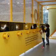 Biomachine Children Exhibition (the children are just visiting).