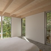 Polished concrete floors, gypsum walls, and the natural