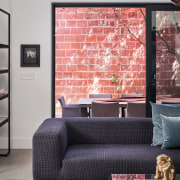 The retained ruby brickwork is made the most