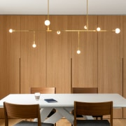 The lighting in this project – sculptural pendants