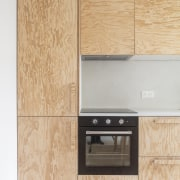 Even the kitchen cabinetry is finished in pine.