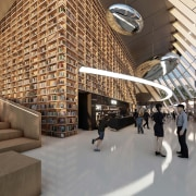 The proposed library's Living Hall. - Booking for