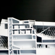 A model cutaway reveals the design thinking.