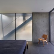 Concrete and frosted glass – a ghost of