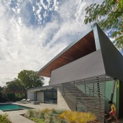 The fold-over nature of the architecture gives the