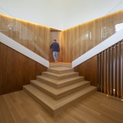Secret egress? While the staircase draws attention, this