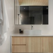 The modern bathrooms combine comfort with the cabins'
