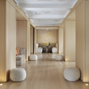 The designer created a panelled a gallery space