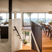 Arrival – the now open-plan and expansive upper