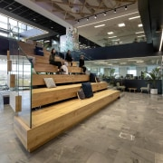 The auditorium stair has high visibility in ANZ gray