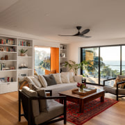 Once a bedroom with two sliding doors –