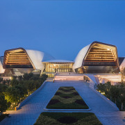 A landmark project, the museum comprises four wings,