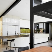 Part of a modernising, light bringing renovation, this