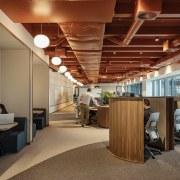 Post-Covid design elements in the Unispace studio include