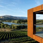 Winemaker Te Kano's new cellar door looks out teal