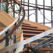 Aegis Living 01 - architecture | baluster | architecture, baluster, building, daylighting, handrail, iron, metal, stairs, steel, wood, white