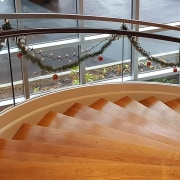 Aegis Living 02 - architecture | deck | architecture, deck, floor, handrail, hardwood, spiral, stairs, wood, wood flooring, brown, gray