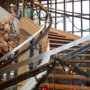 Aegis Living 06 - architecture | building | architecture, building, daylighting, escalator, handrail, interior design, lobby, shopping mall, stairs, white