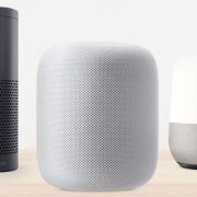 Amazon Echo – Apple Homepod – Google Home computer speaker, loudspeaker, product, white