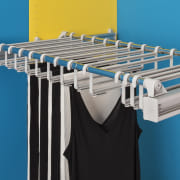 Adjustable Width Trouser RackAdjustable width from 750mm-1150mmFor improved product, teal