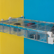 Innovative multi-purpose systemPull out wardrobe storage - order glass, plastic, product, teal