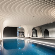 The Arc by Crown Group's swimming pool is architecture, building, ceiling, interior design, leisure, swimming pool, gray