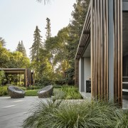 Architect and landscape designer worked closely together to