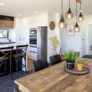 Rustic meets refined design with the living spaces