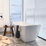 Blinds control the sun's rays and provide privacy