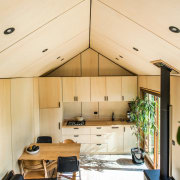 Le Workshop in Napier architecture, ceiling, daylighting, house, interior design, orange