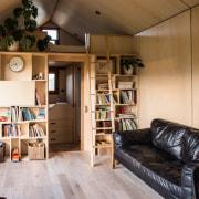 Le Workshop in Napier - Le Workshop in bookcase, furniture, house, interior design, living room, loft, shelving, wood, brown