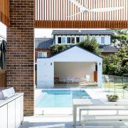 Neighbouring properties were carefully hidden through timber slatting,