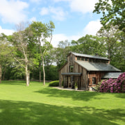 Complete with a sleeping loft, the barn is