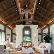 Interior materials are limited to wood and bluestone